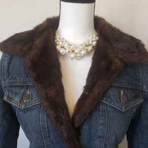 Marvin Richards - Vintage Denim Faux Fur Jacket
